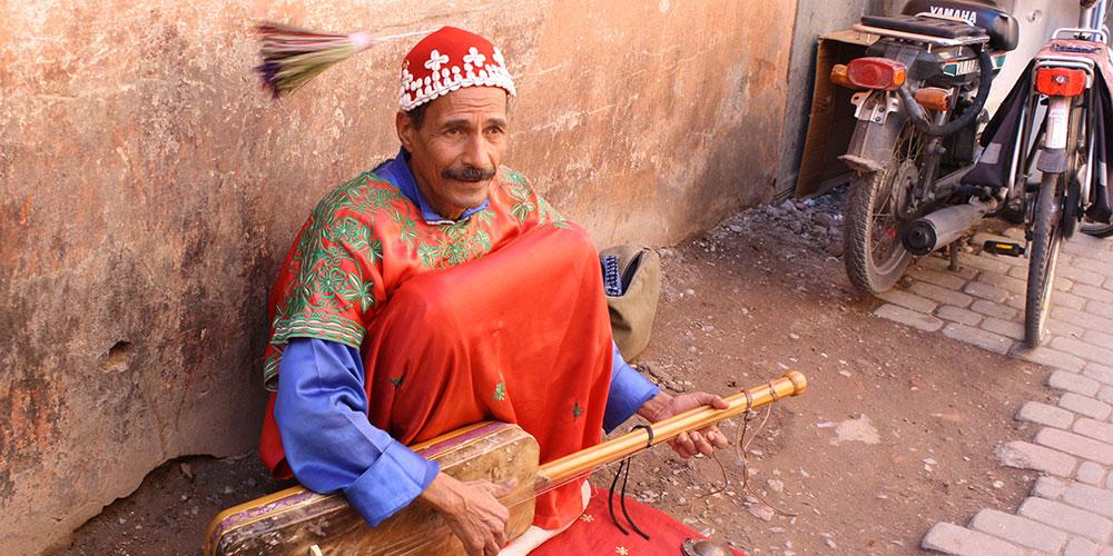 Berber musician, Morocco