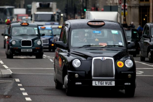 Taxi in london traffic
